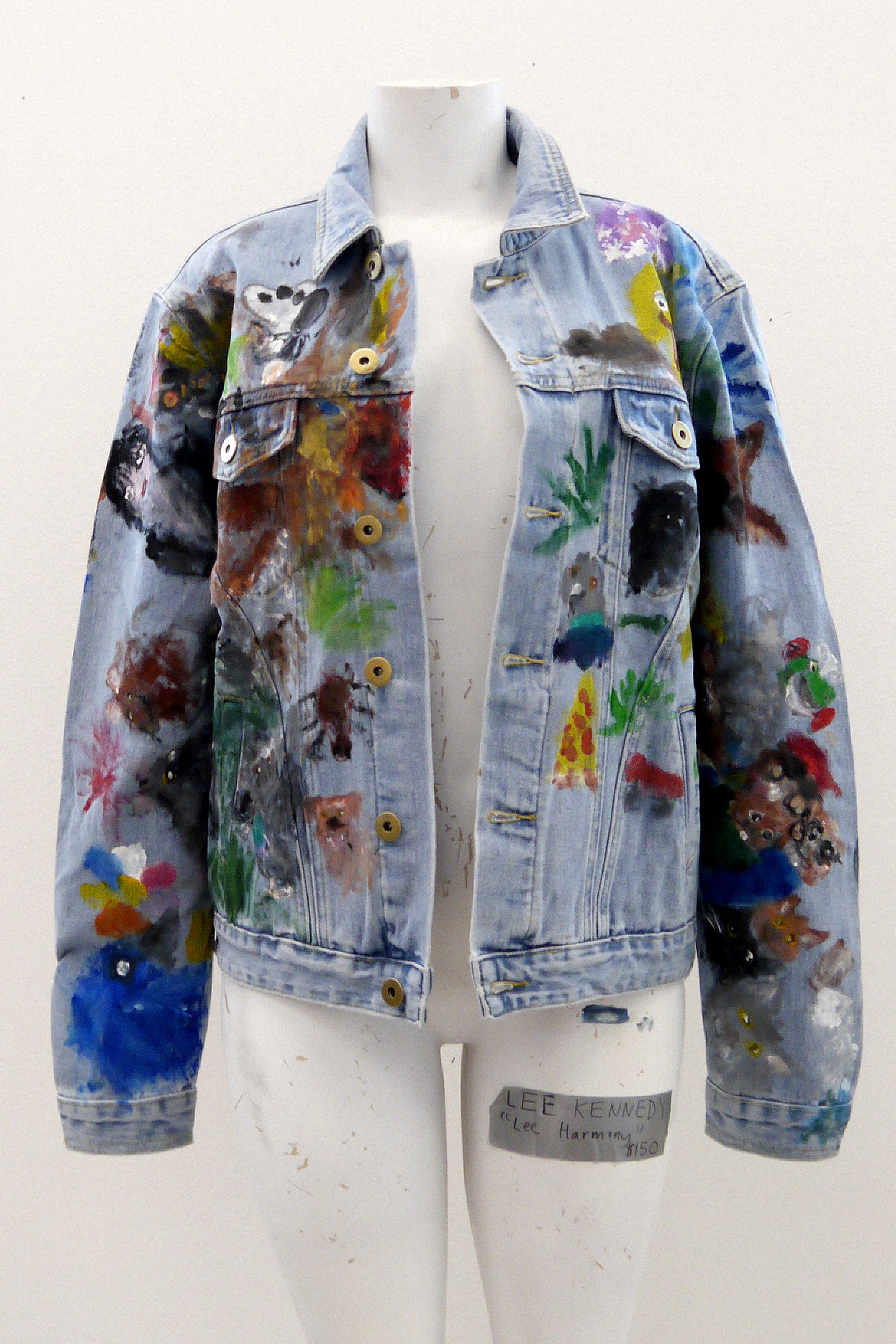 (SOLD) A Cool Jacket (front) - acrylic on jean jacket - 2018.jpg