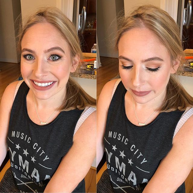I had the best bridal trial with this green eyed beauty today! She wanted a very natural yet a little bridal look. She's such a natural beauty and even her sweet fiancé loves her most without a stitch of makeup on. I cry from their sweetness😭 . Eyes - @urbandecaycosmetics born to run . Concealer - @hourglasscosmetics . Airbrush - @temptu . Blush and highlight - @narsissist . Lips - @tartecosmetics lip paint in@bestie