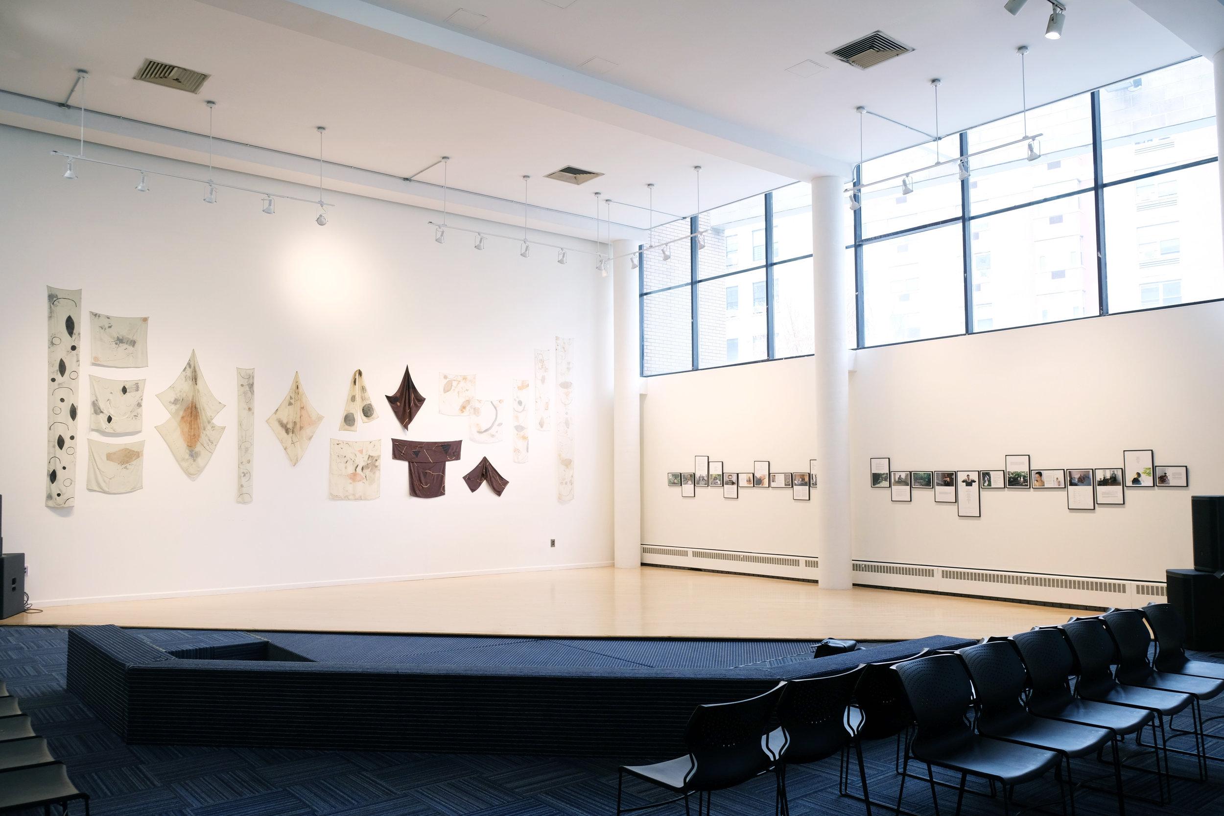 tarah douglas, studies of jahyne installation, 2017, Harlem School of the Arts, New York.