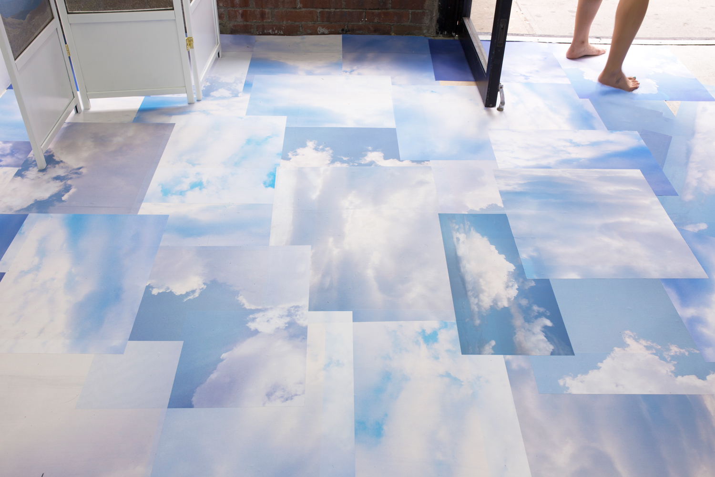Sacha Vega, Sky's The Limit floor, Photo Tex prints, 2015