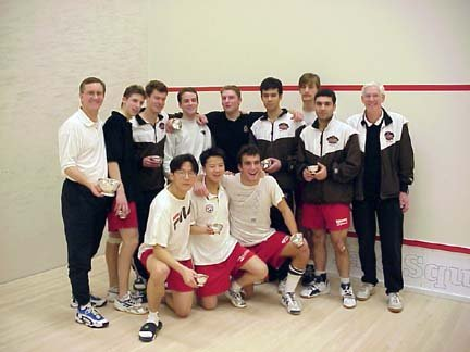 1999-2000 Brown Bears Men's Squash Team. (That's me standing 2nd from left)