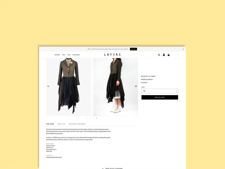 luxury fashion e-commerce website