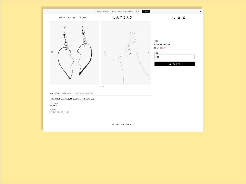 niche fashion web store design