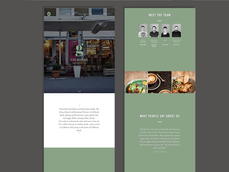 contemporary cafe website design