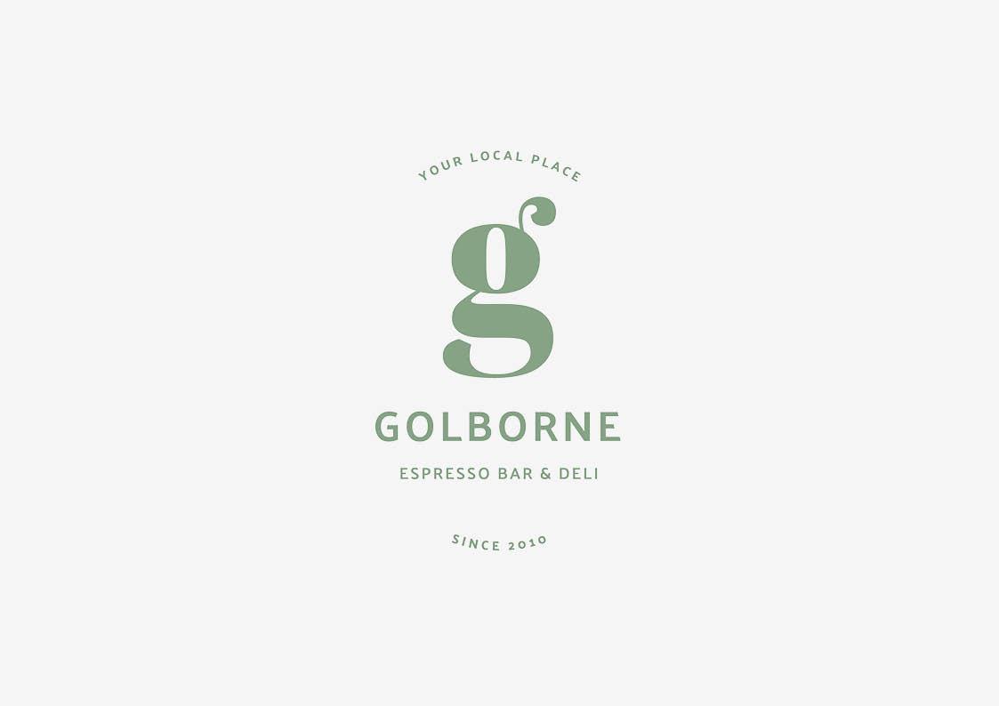 luxury cafe logo design london