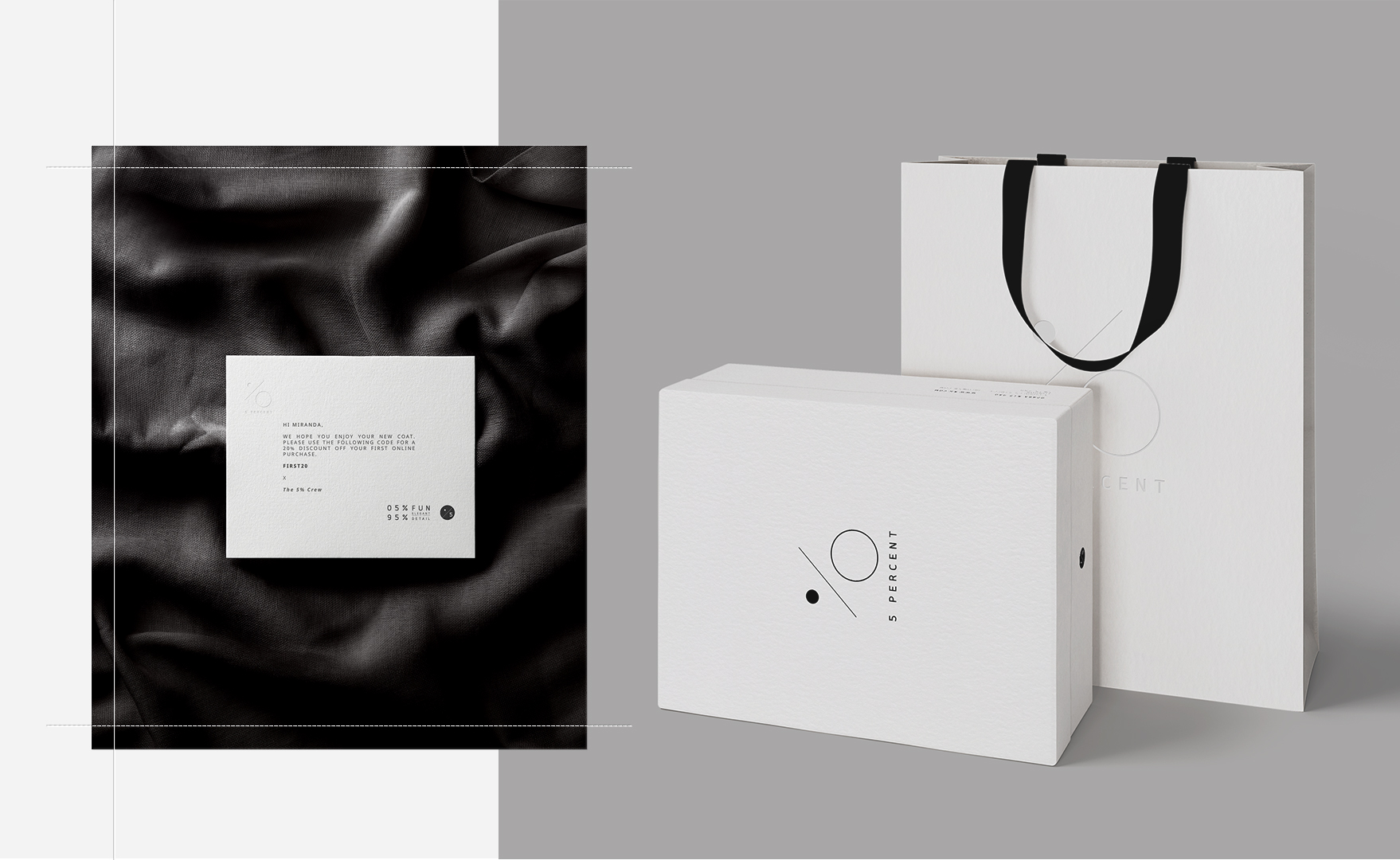 luxury retailer bag design print