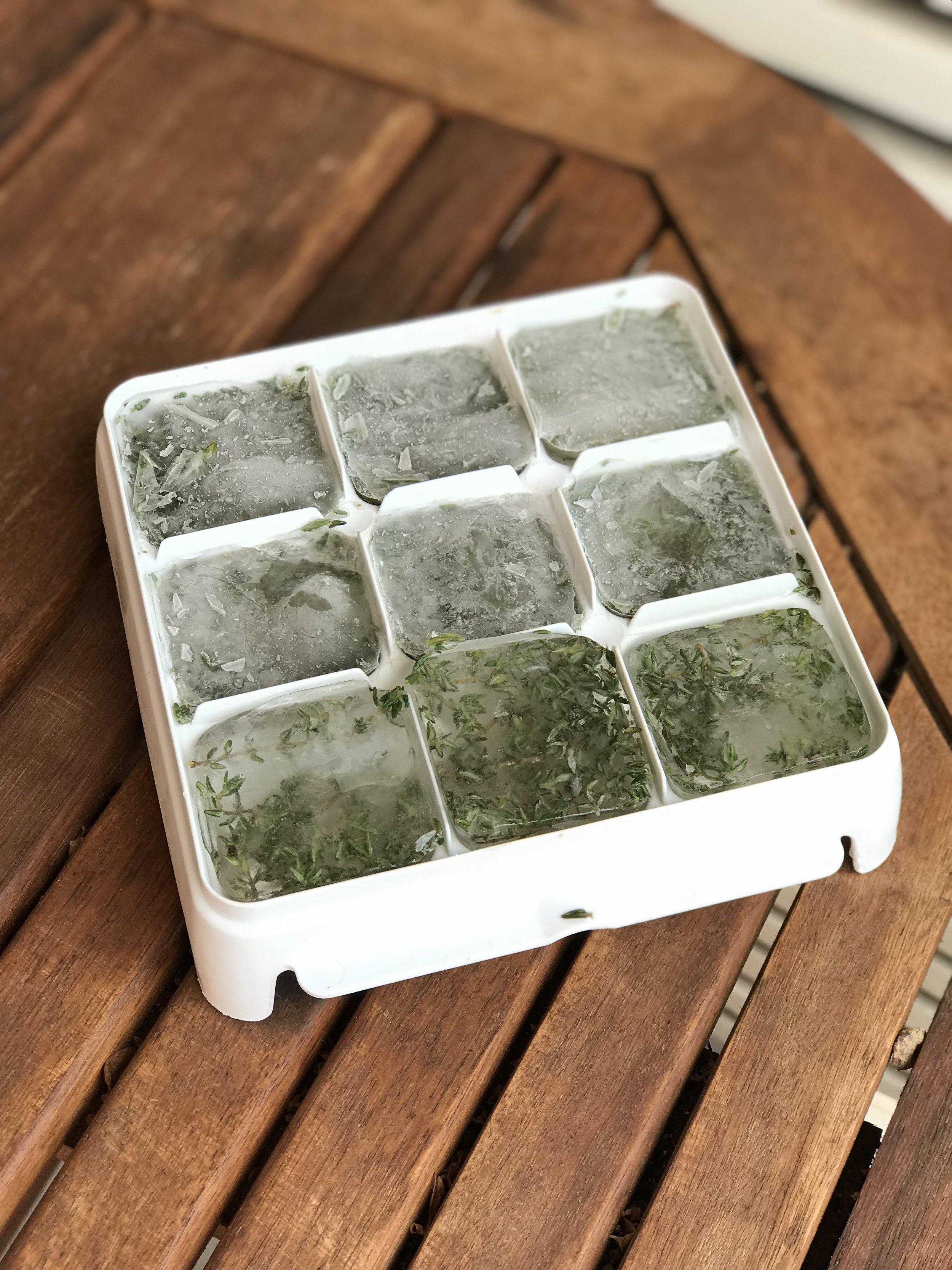 gelo de tomilho