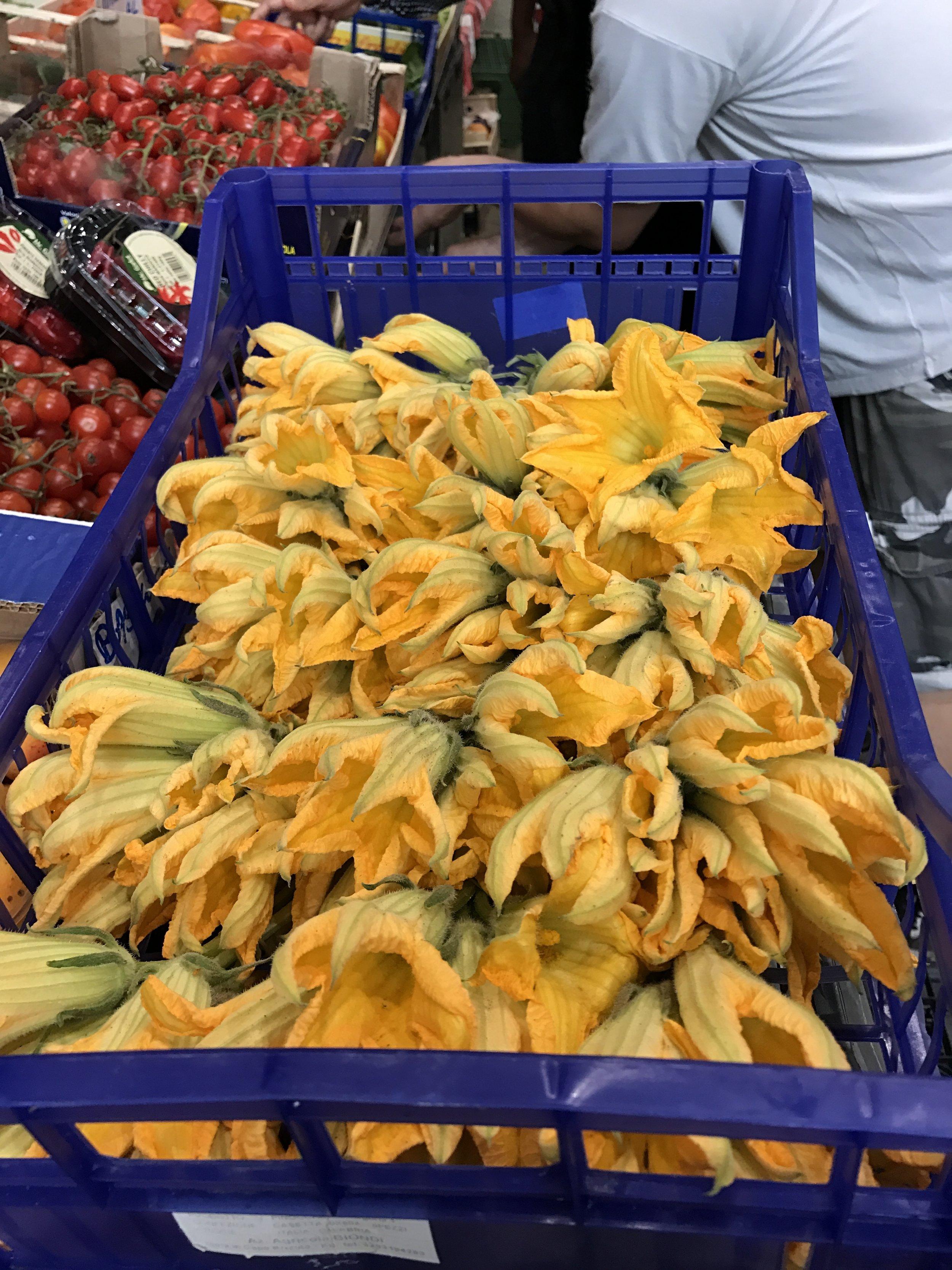 Flores de Abobrinha no Mercado