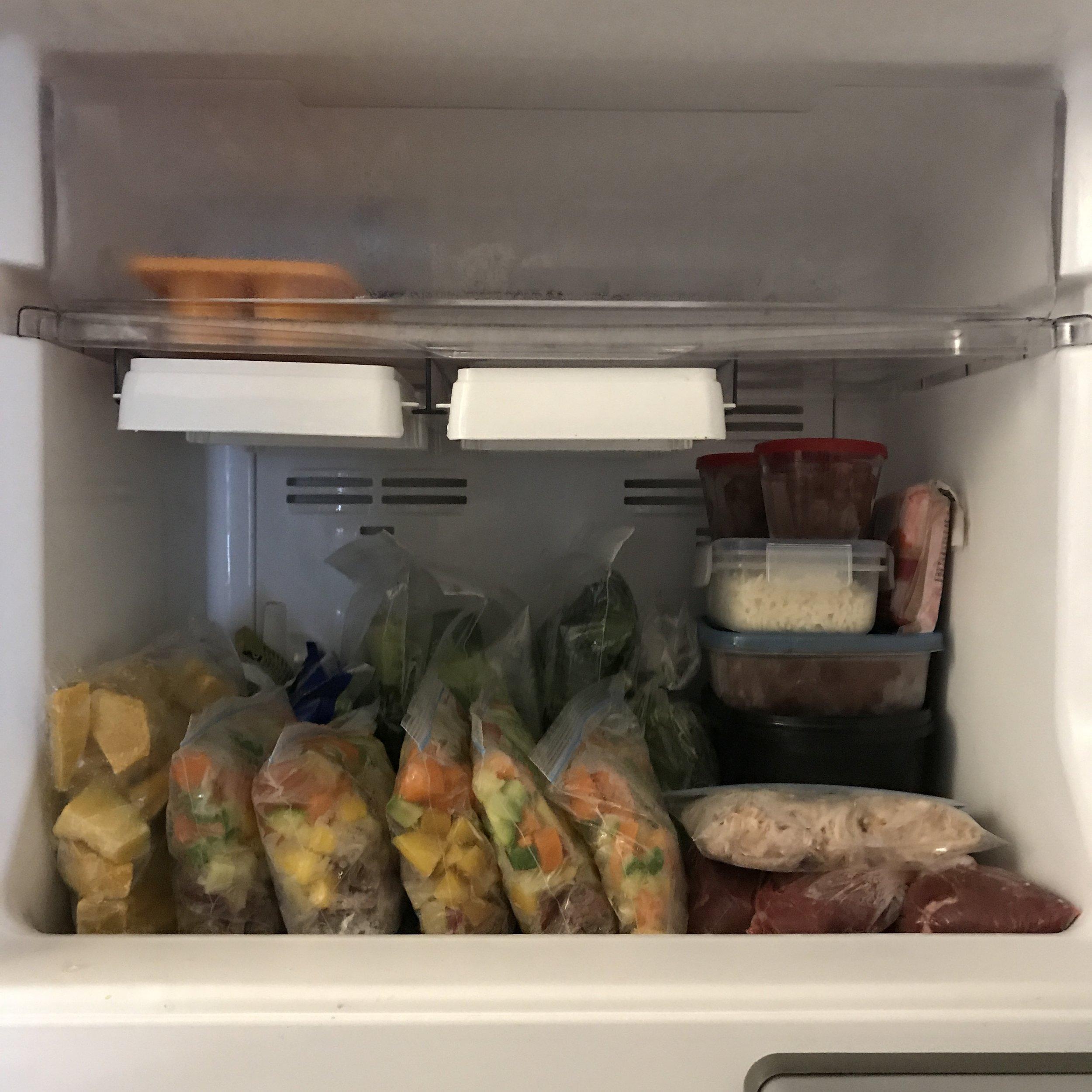 Meu freezer, depois de uma organização geral