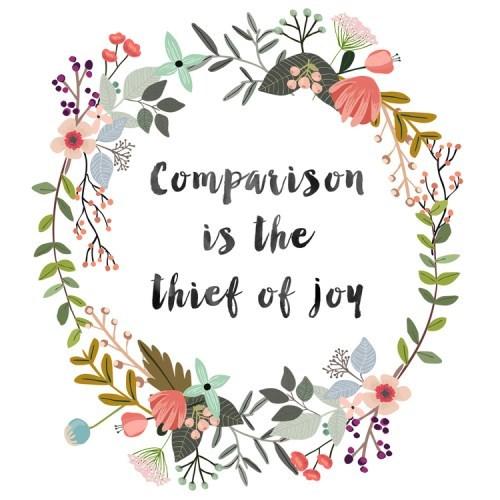 """Retirada do google imagem: """"comparação é a ladra da alegria"""""""