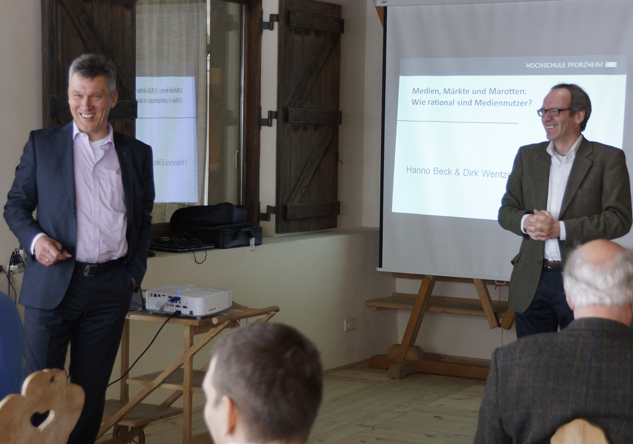 Prof. Dr. Dirk Wentzel, Prof. Dr. Malte Krüger