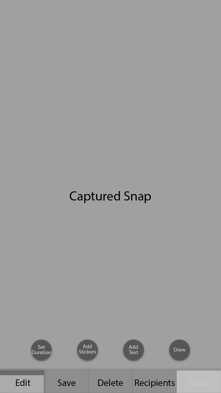 Captured Snap Screen