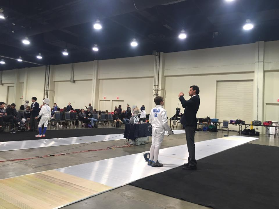Referee photo courtesy of iMasters Fencing.