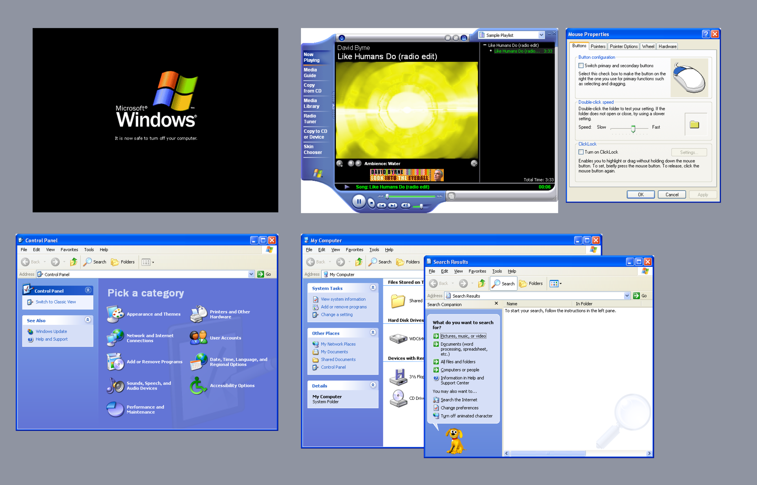 Nostalgic design details in Windows XP. Courtesy:    GUIdebook