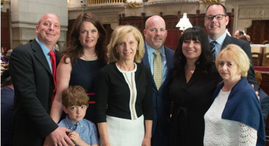 1 Resolution - St Baldricks Floral Park was honored this year by Senator Elaine Phillips on the floor of the NY State Senate. A resolution was passed commemorating the 9th Annual St. Baldrick's Shave Off and the 4th Annual Ladies Night in honor of Aiden Binkley