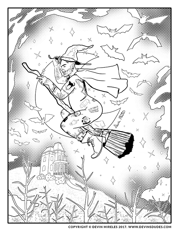 witchy dude coloring book page 72.jpg