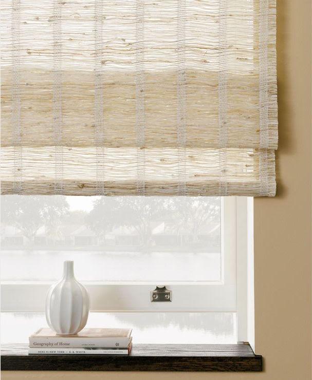 Lauras Draperies and Blinds Little Rock Arkansas Silhouettes Shades Custom Bedding Curtains woven wood shades 4.jpg