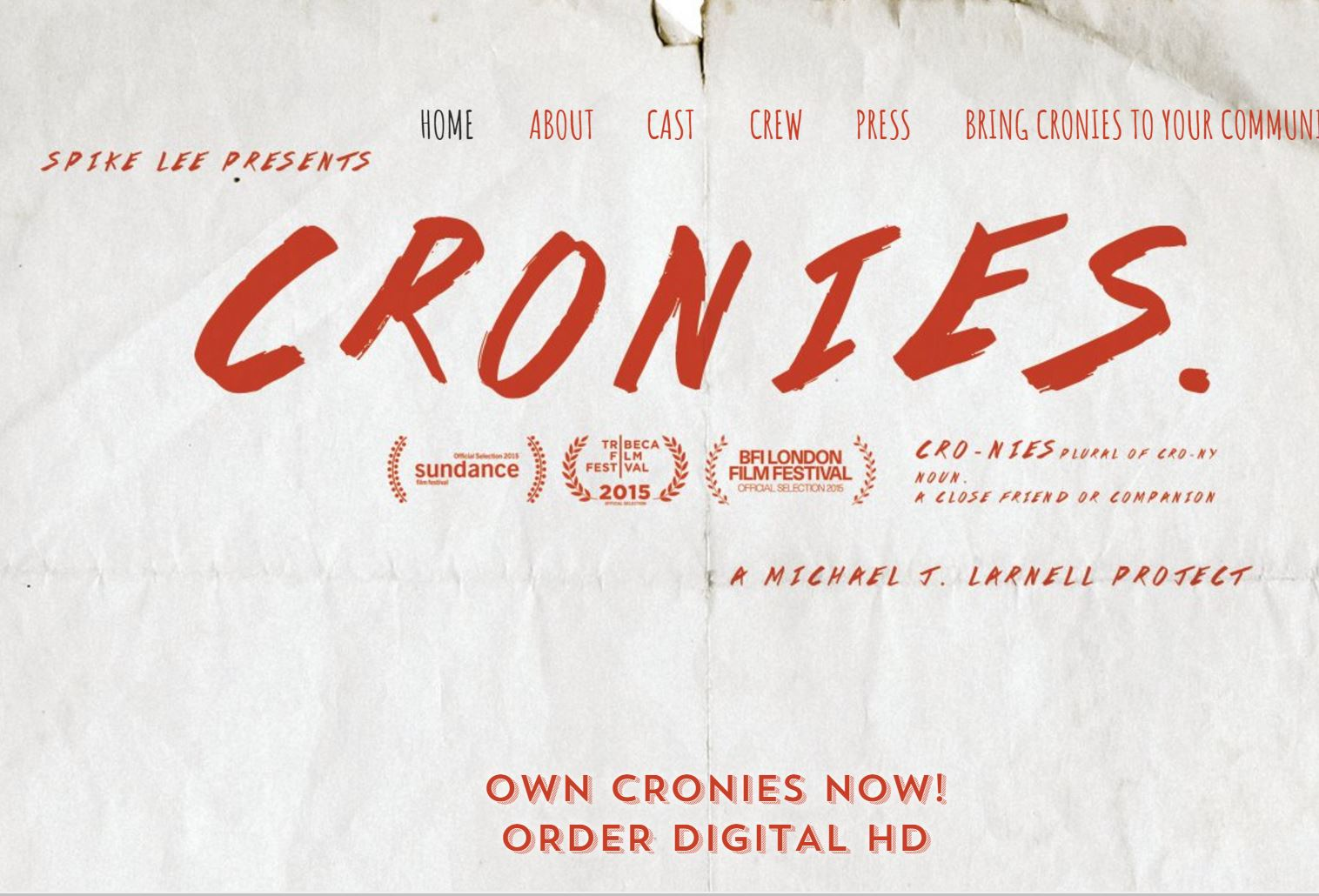 Spike Lee Presents Cronies