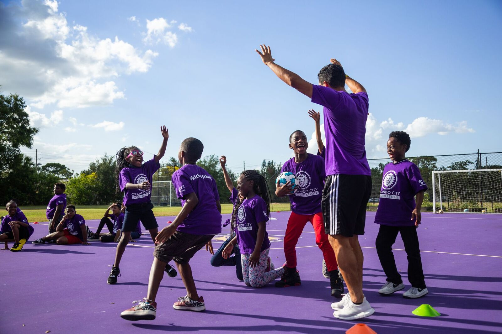 Kicking It Back To The Community  The Orlando City Foundation provides free soccer programing in Central Florida.   Learn More