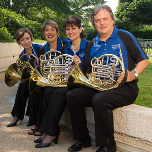 The Horn Section - Chandra Cervantes, Amy Horn, Teresa Bosch and Marty Hackleman.