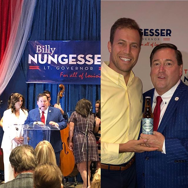 #Congrats To the Louisiana #KingOfTourism @ltgovbillynungesser for the top #VoteGetter in the state yesterday! Always appreciate the support and attention to #LouisianaCraftBeer @bayoutechebrewing #NungesserLager #OnlyLouisiana
