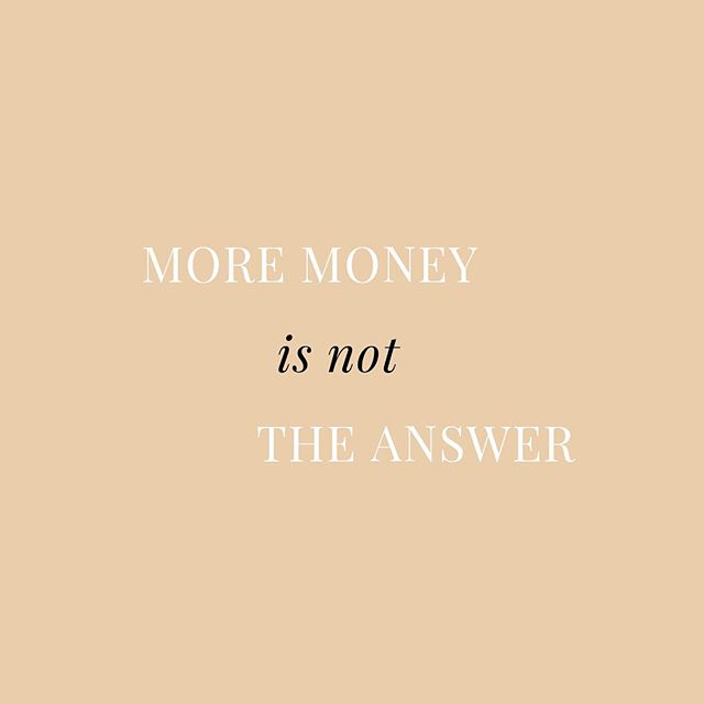 Just like BIG said, mo money, mo problems!💰 For real though, It's easy to think that MORE money is the answer. It will give you the opportunity to get x, y, z and in some cases it may be, but before we reach that conclusion it's so important to maximize what you currently have.  Do you use all of your subscriptions? Are you getting a good deal on your bills? Do you really need that FabFitFun box?! 🤔 Have a close look at your credit card statement this month, and make moves to cut out unnecessary expenses. Every dollar adds up! ❤️
