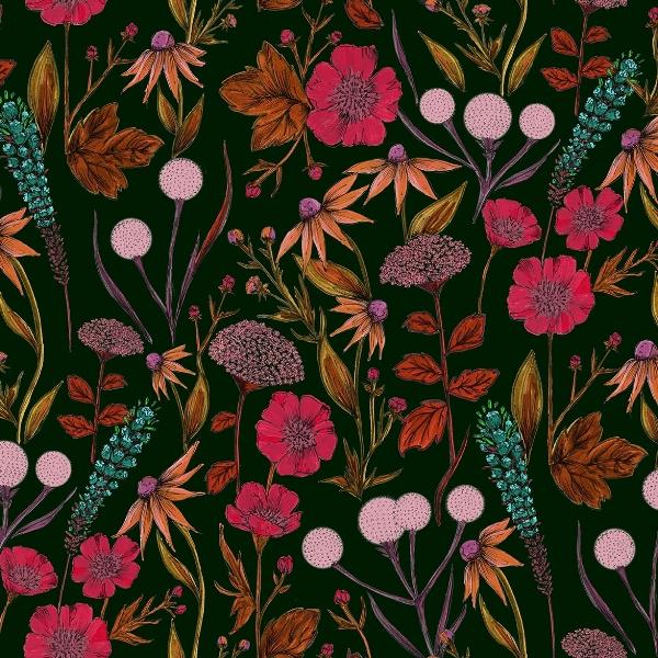 Emily Jane Taylor Large Floral Print 2 Half Drop 4 Green Ground for web.jpg