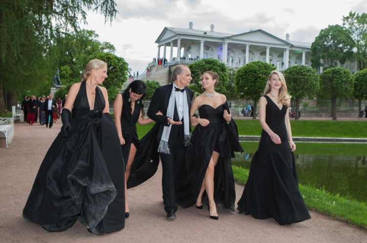 Catherine Regehr shows her collection at the Catherine Palace, St. Petersburg Russia as guest of Musical Olympus Foundation -