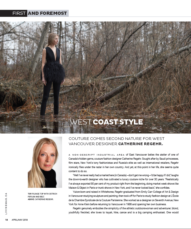 Vancouver Living MagazineApril/May 2018 - Feature: West Coast Style (p. 18-19)