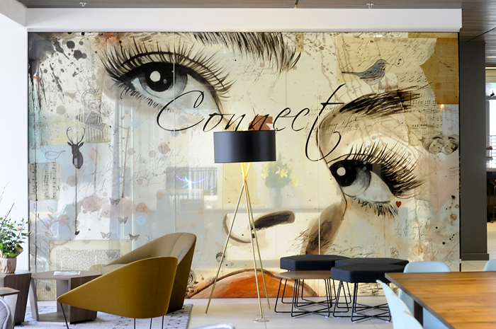 Hotel Eastlund Lobby Artwork Studio Art Direct