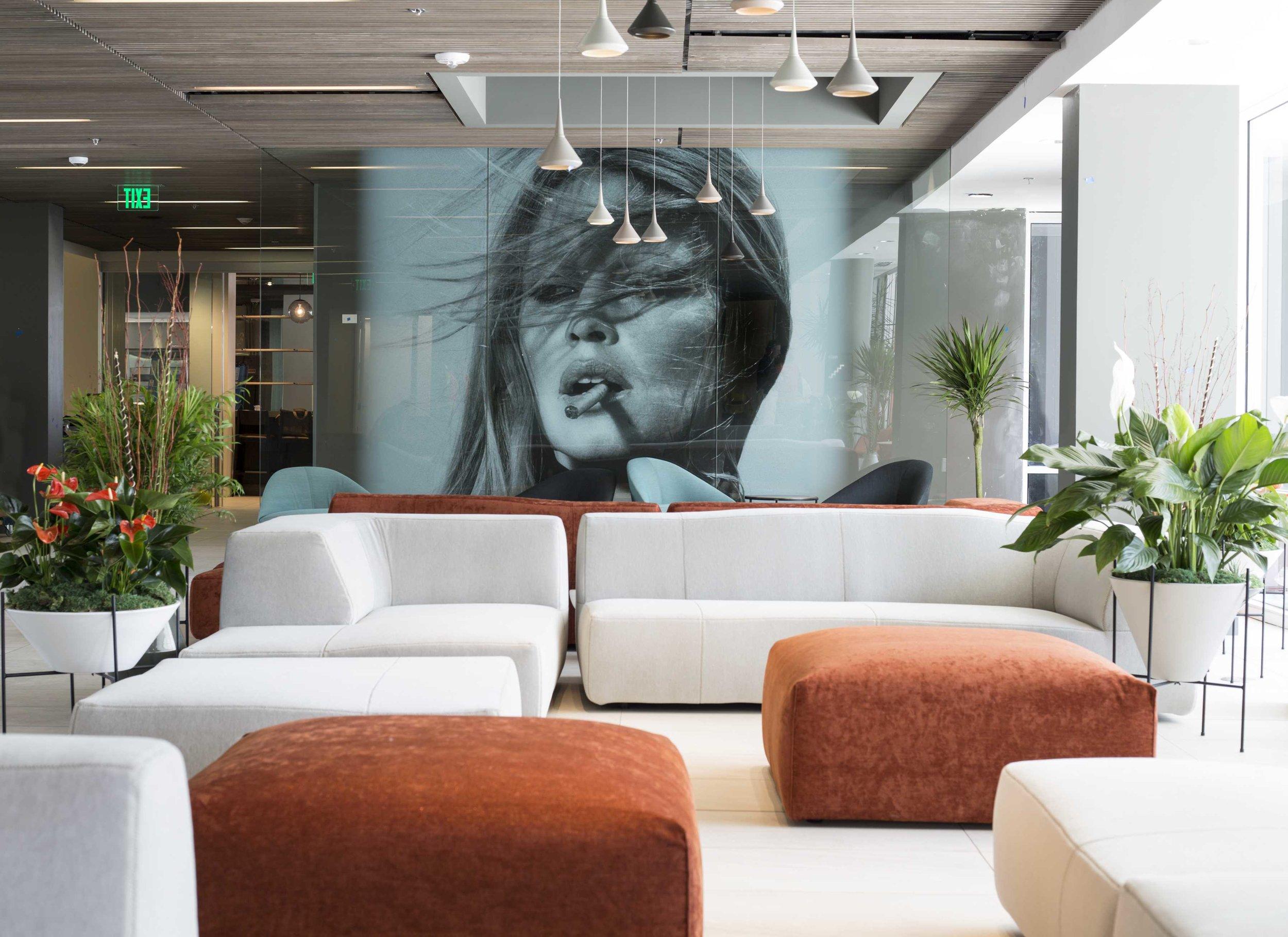 Terry O'Neill Hotel Eastlund Art Installation Lobby Artwork Studio Art Direct