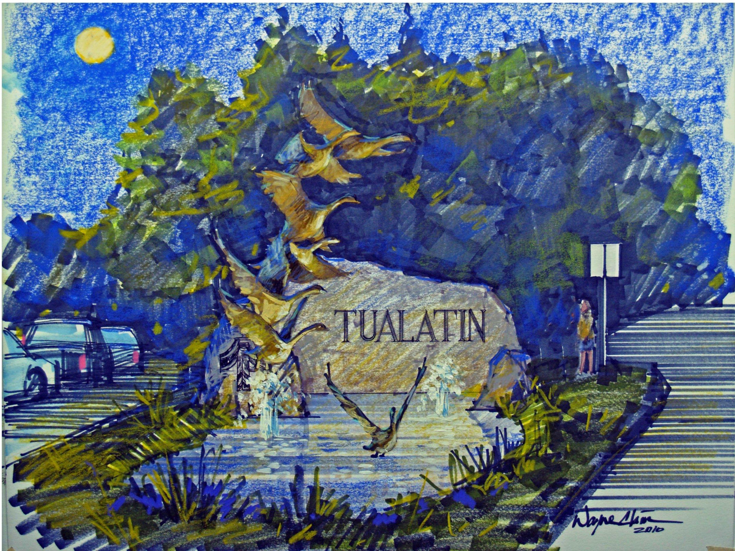Rip Caswell Studio Art Direct Tualatin Sign