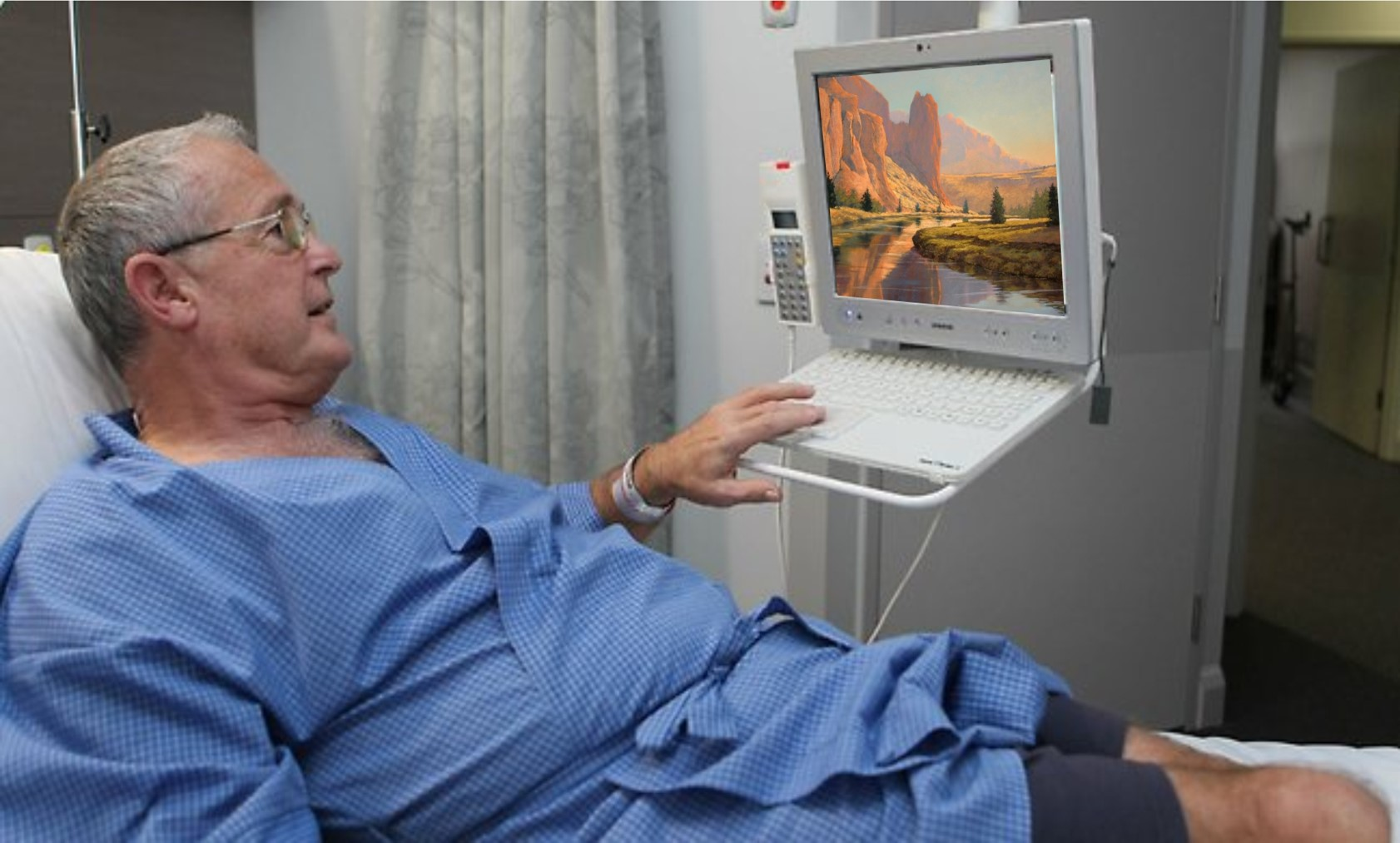 Digital Healthcare Design Patient Bedside Artwork