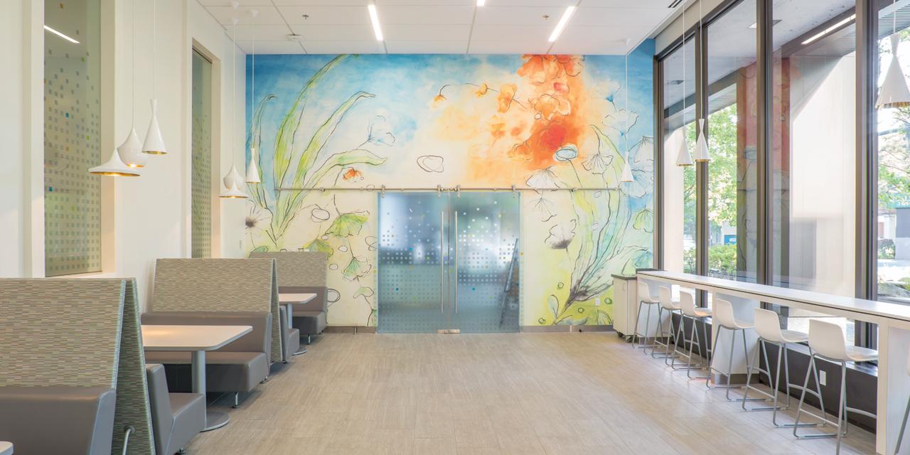 Studio Art Direct Kaiser Headquarters Custom Watercolor Wallpaper Janelle Baglien Artist