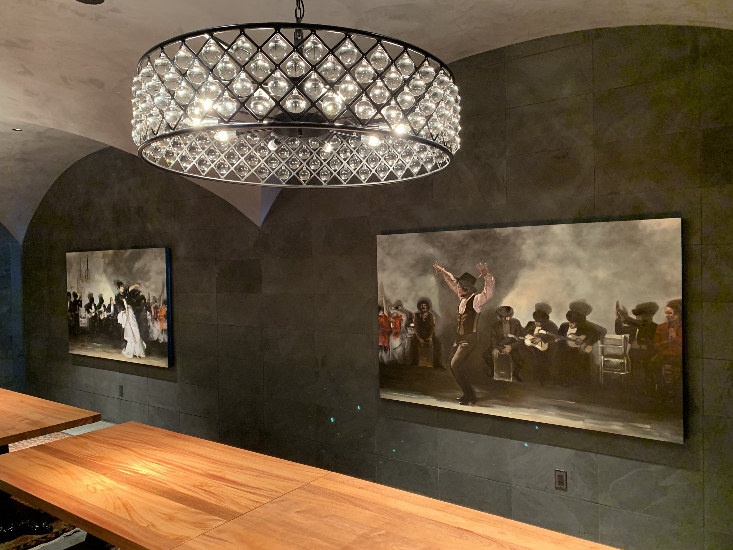 Hotel Eastlund Wine Bar Original Artwork Studio Art Direct Commission