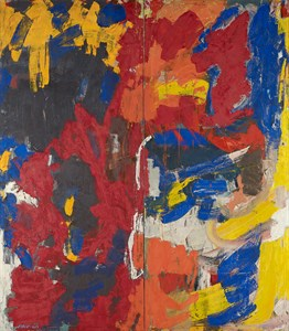 Untitled (60-17), 1960       Oil on Canvas 96 x 69 3/4 x 0 3/4 in.