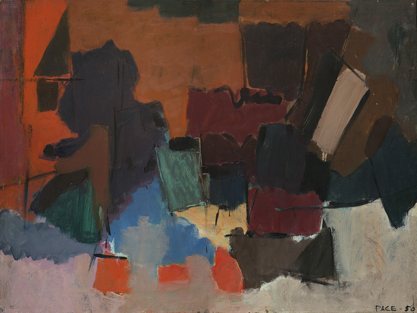 Untitled (50-2), 1950                   Oil on Canvas 24 1/2 x 32 1/2 x 1 in.