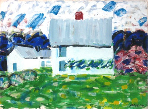 Lack's House (72-2), 1970 Oil on Canvas   22 x 30 x 1 in.