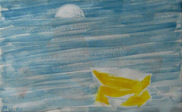 Yellow Boat, 2001  Watercolor on Paper  17 1/2 x 27 3/4 in.
