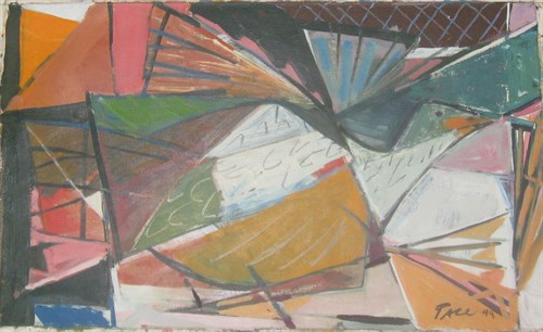 Untitled, 1949  Oil on Canvas  16 x 25 3/4 in.