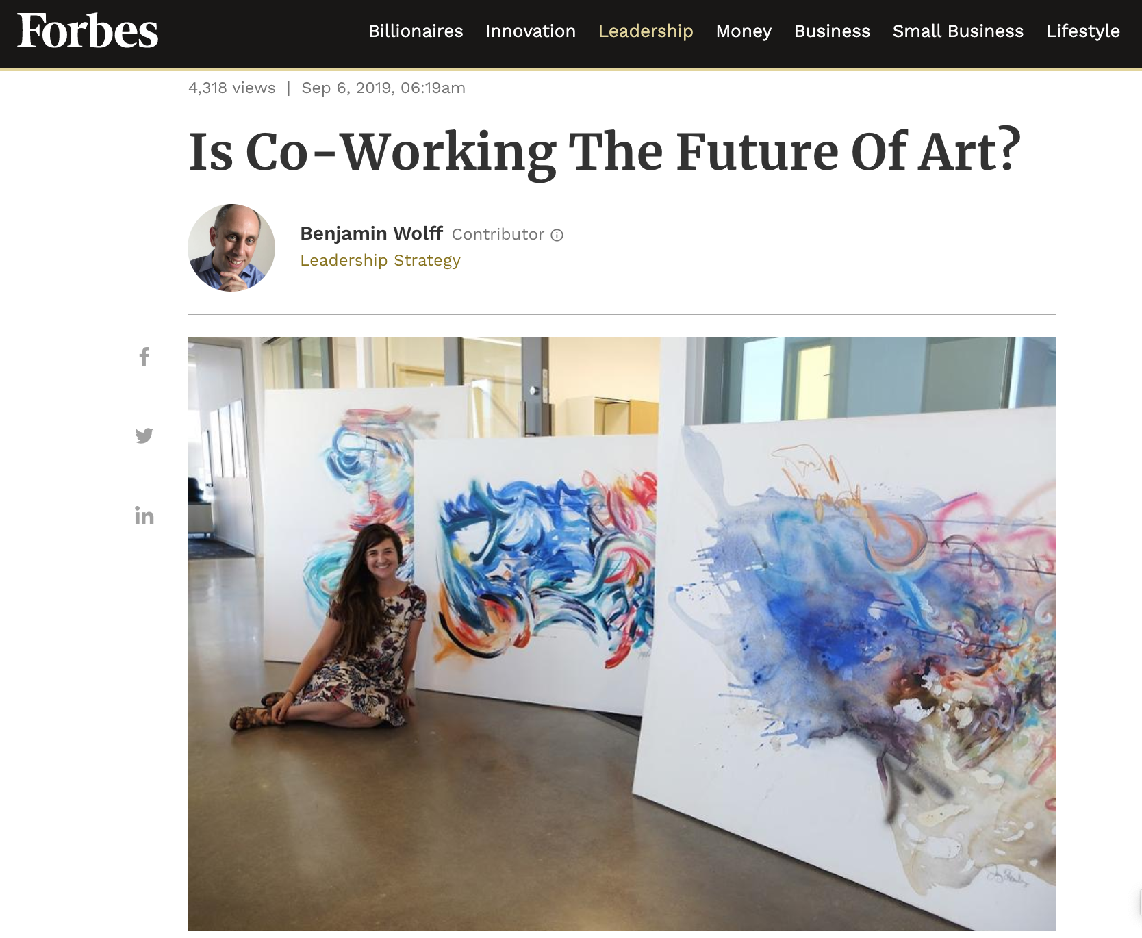 Click on image above to read full article on The Yard's Art Program and art in Co-Working!