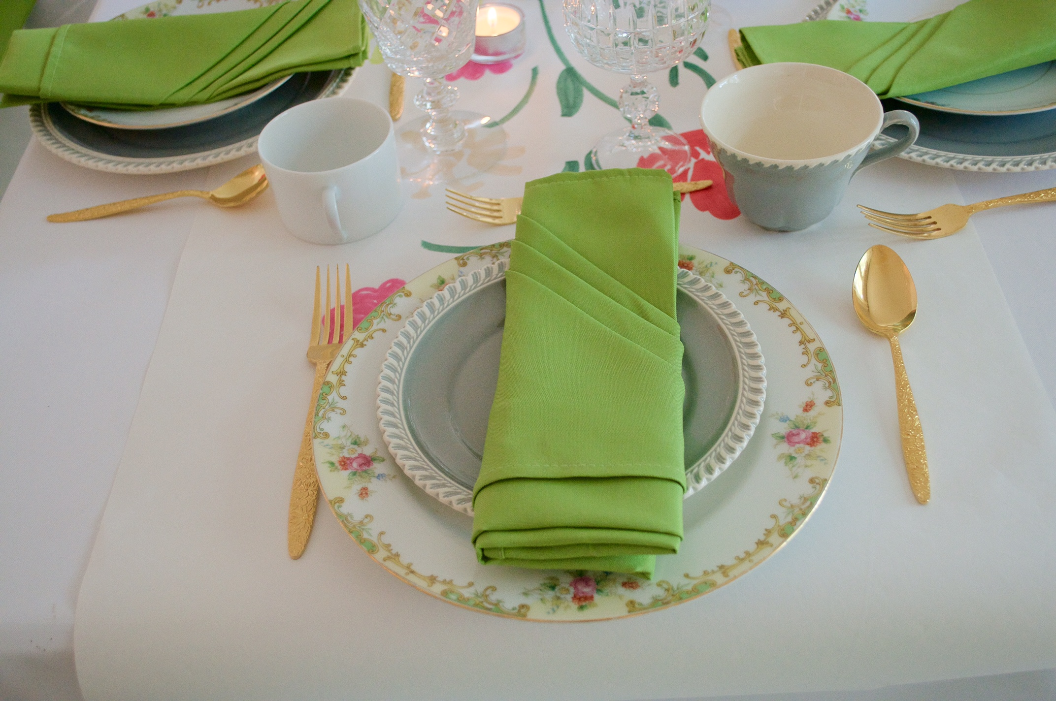 Mix-and-match vintage place settings