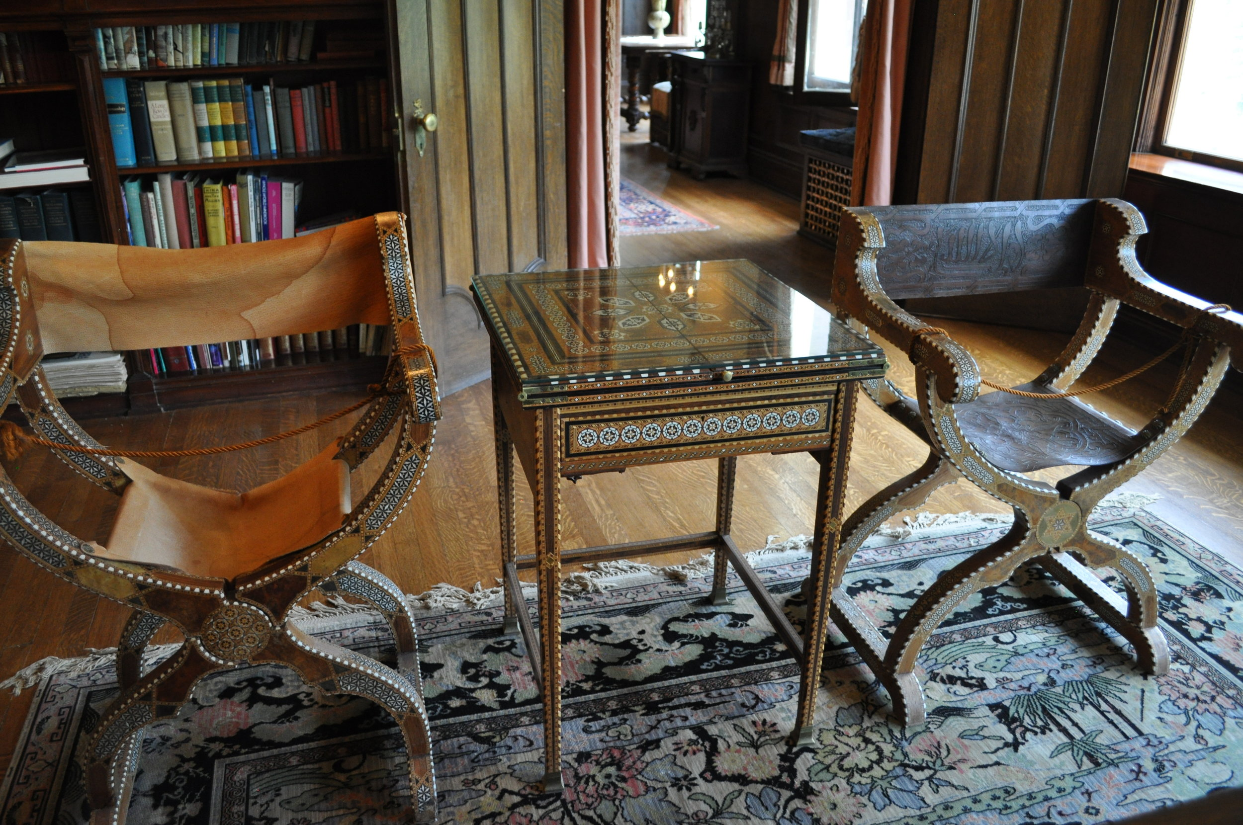 campaign chairs from Osgood's travels