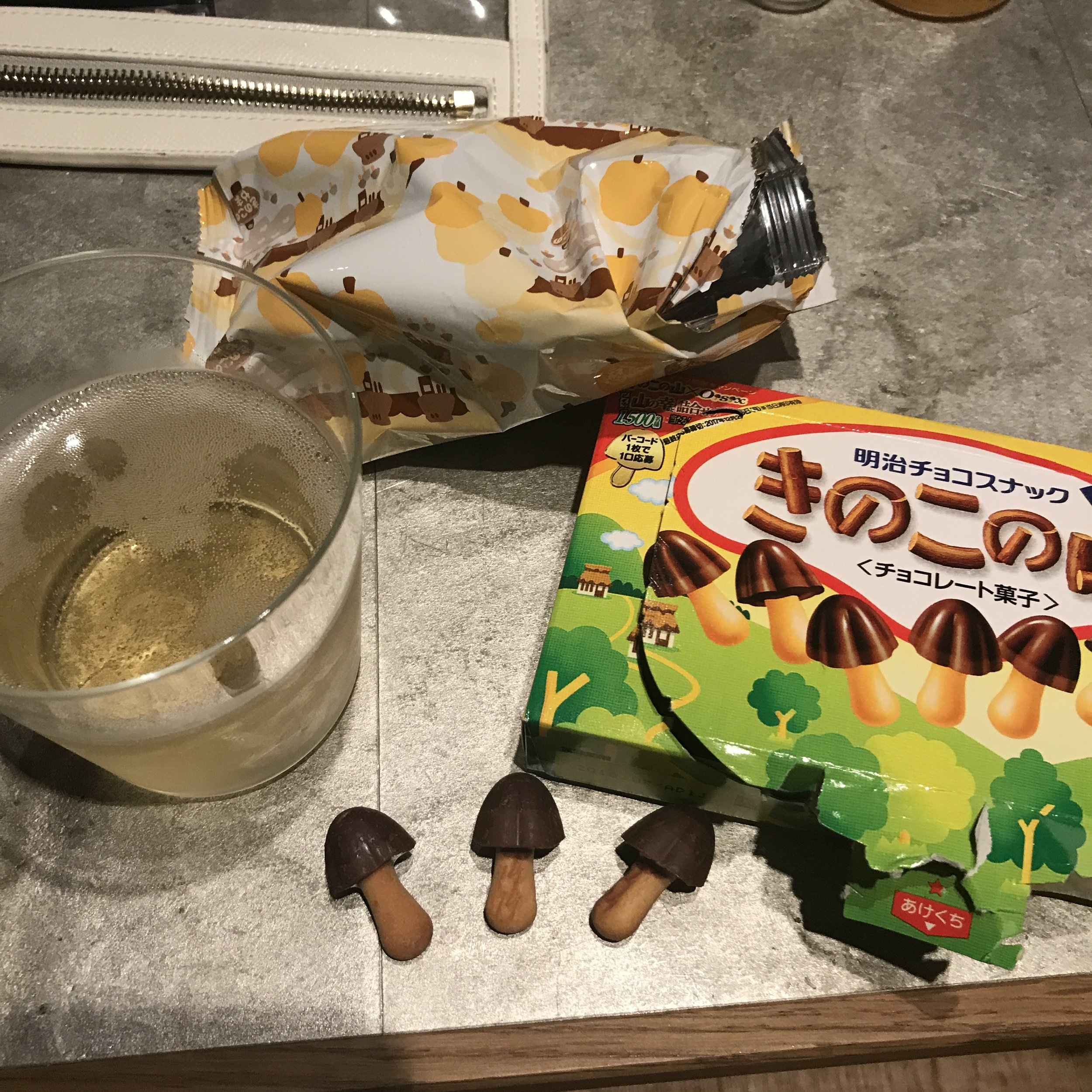 Later night Champagne and mushroom cookies