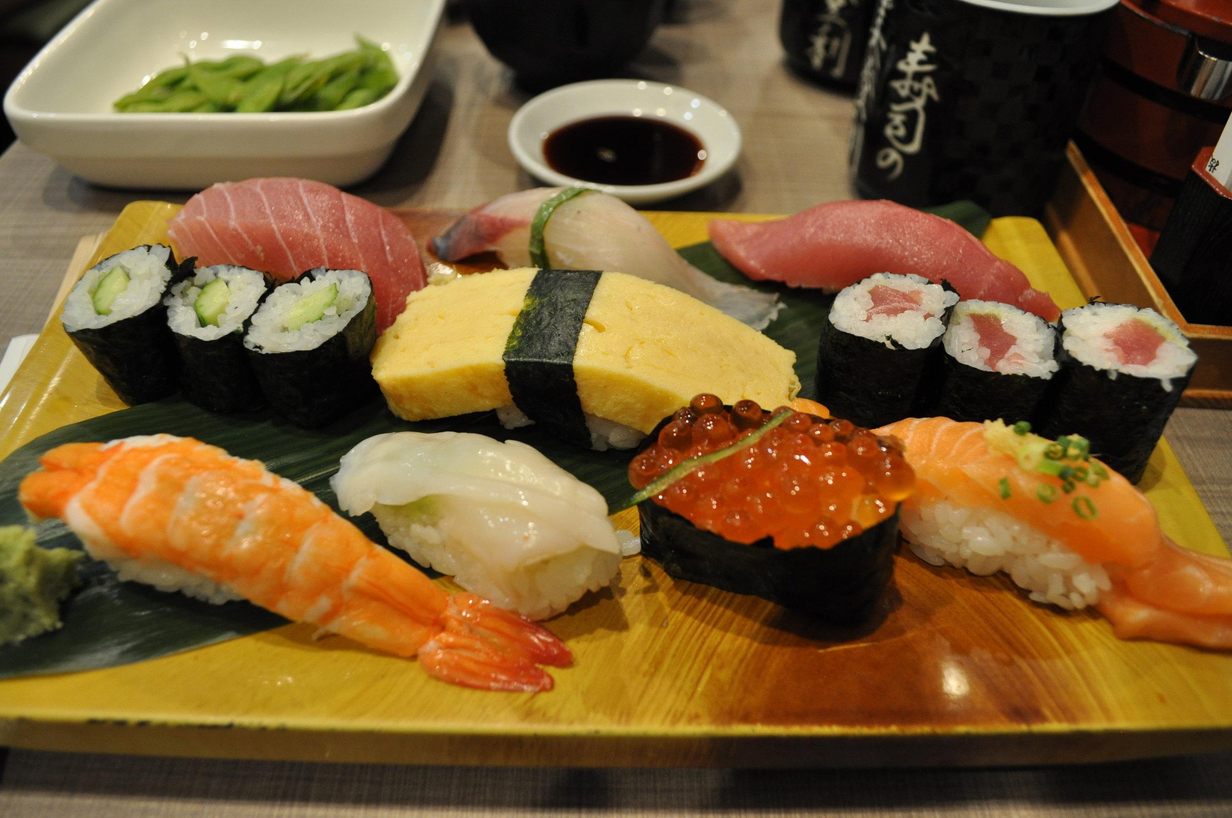Sushi no Midori platter