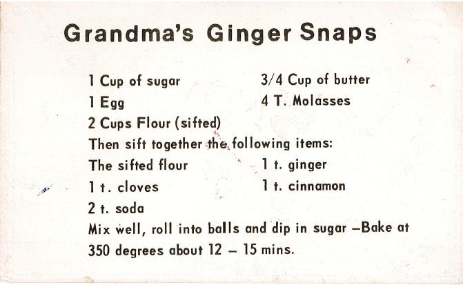 Grandma's Ginger Snaps   @beesandbubbles