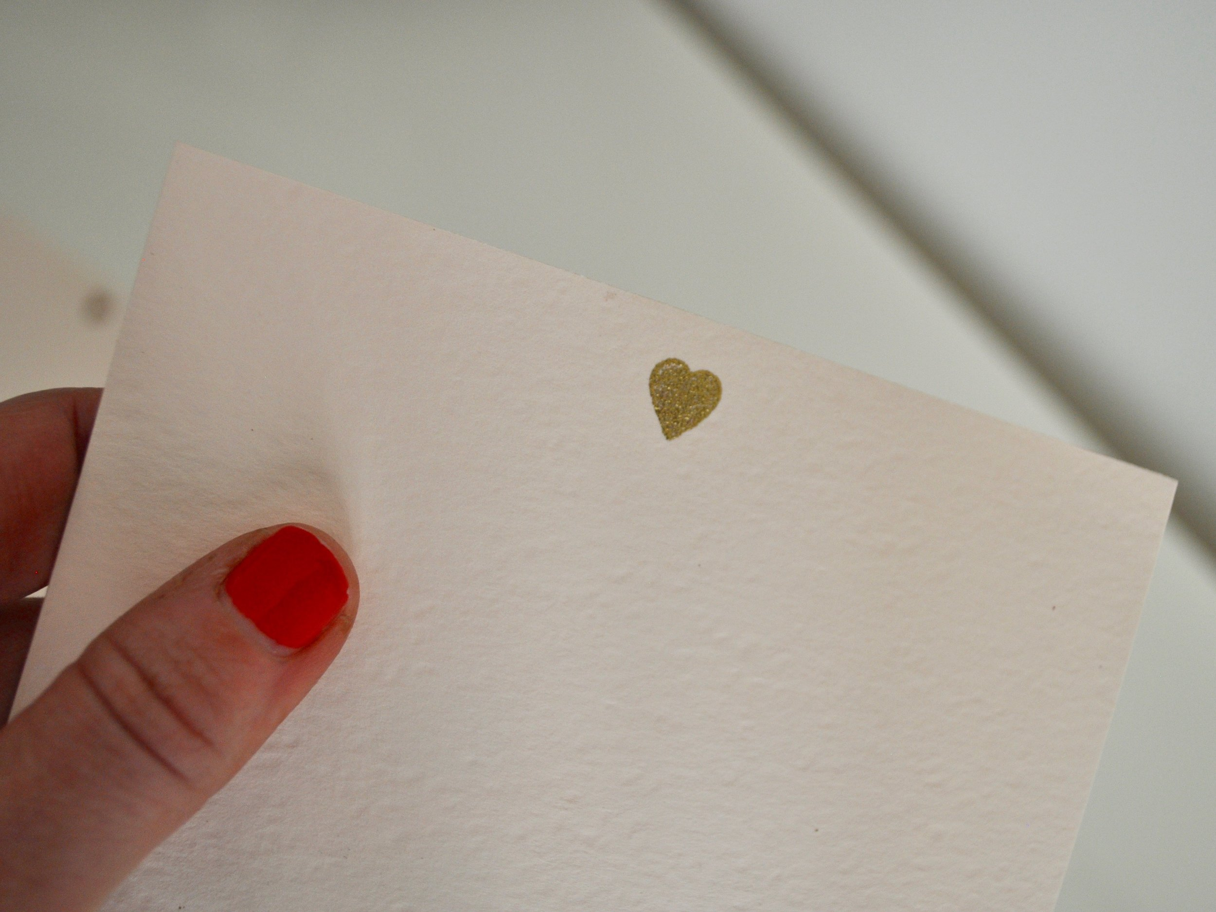 Embossed Heart Stationery | @beesandbubbles