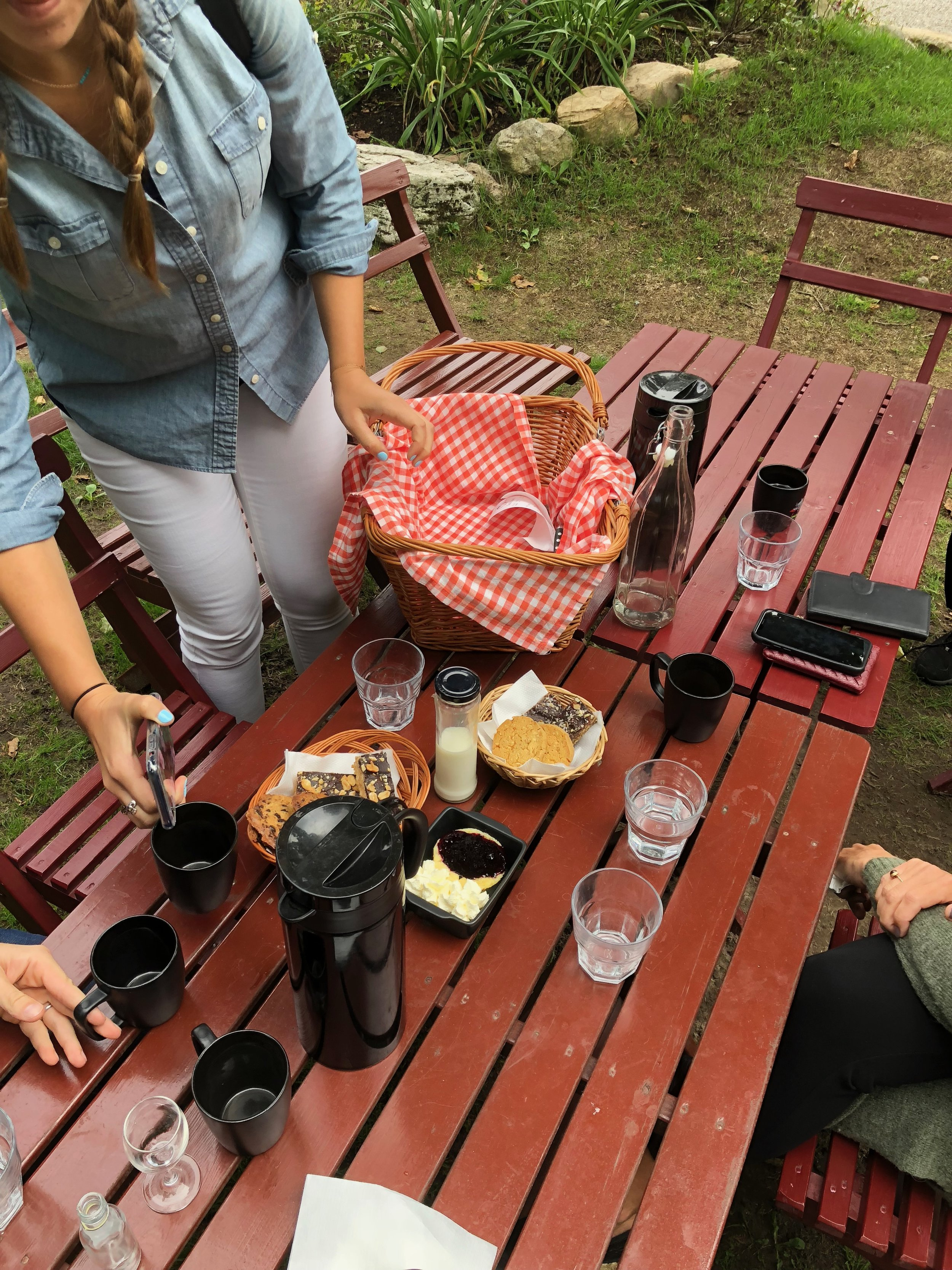 Time for fika, which arrives in a picnic basket!