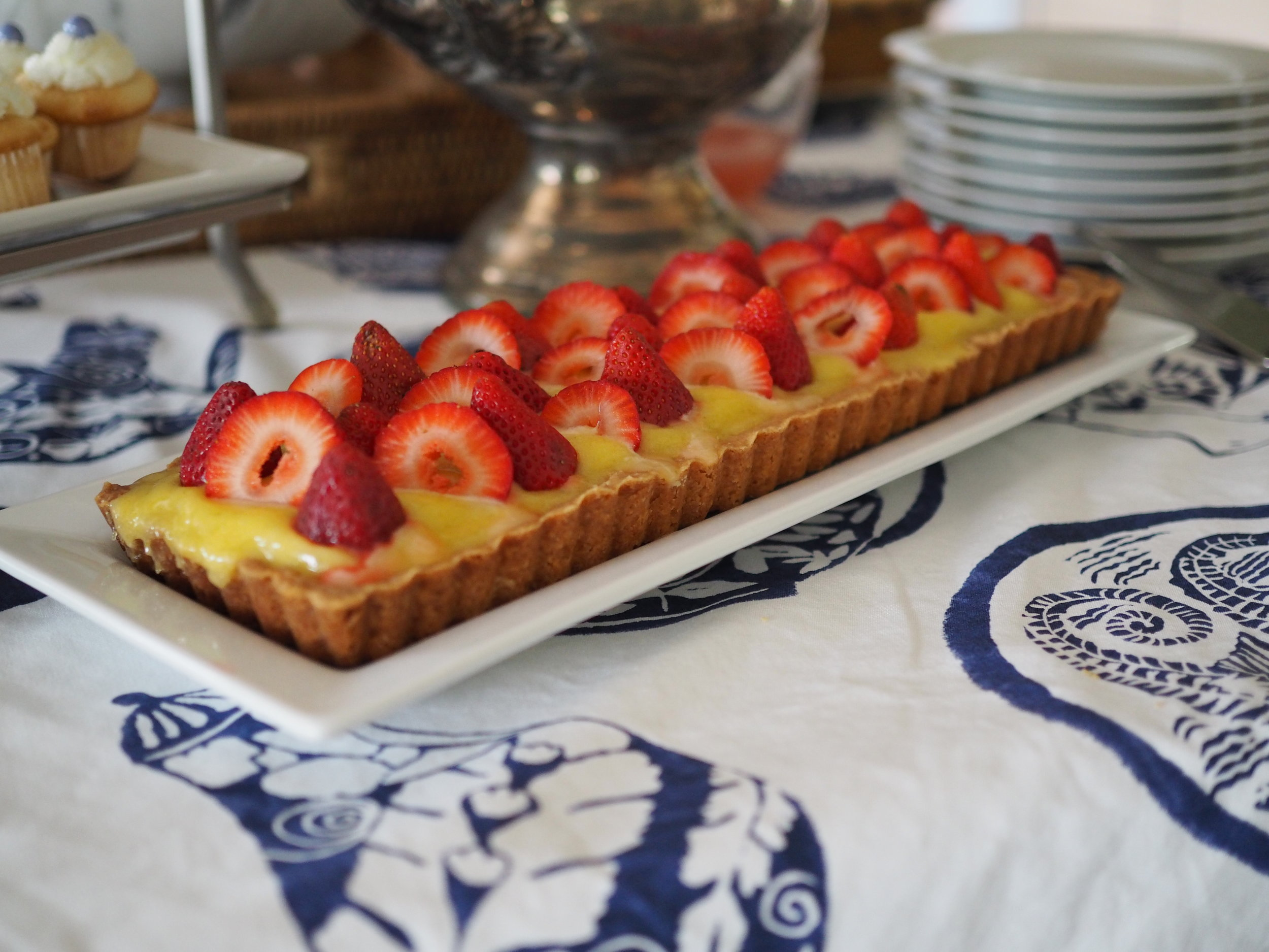 Lime Curd and Strawberry Tart