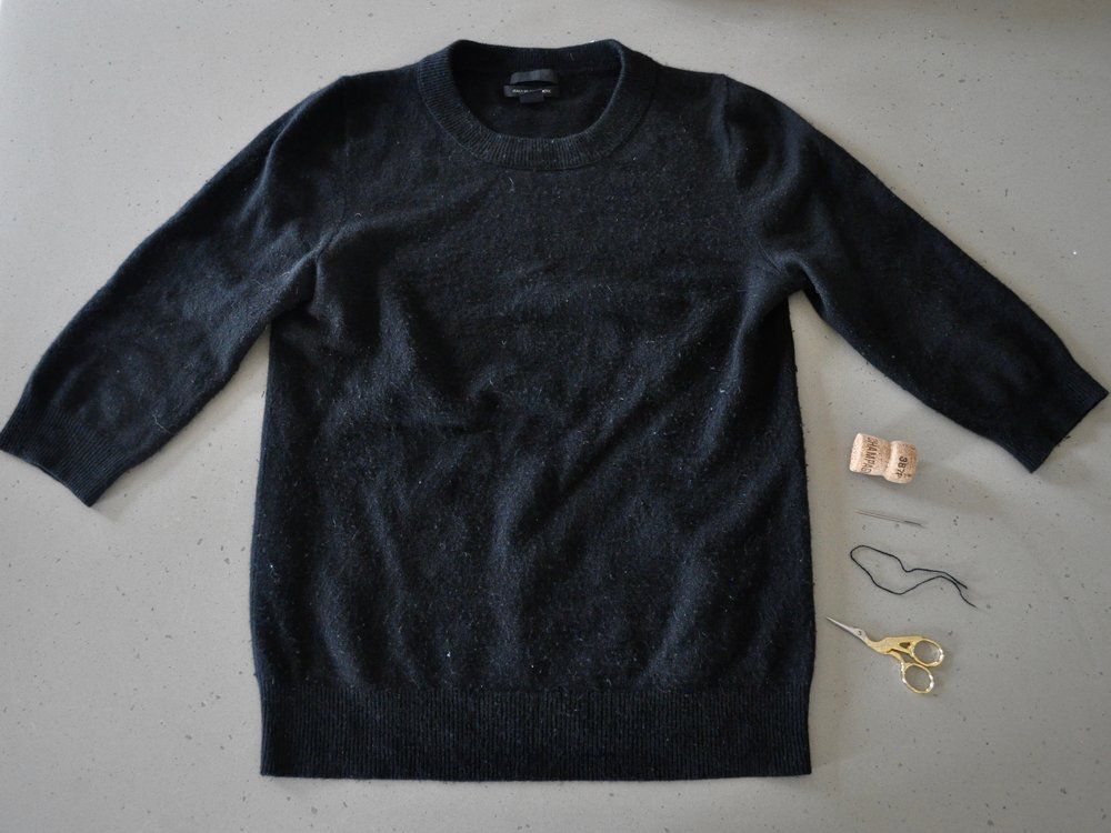How to Repair a Cashmere Sweater bees and bubbles